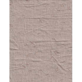 Linen Natural Embroidered 10130-1