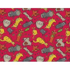 Printed Cotton Lycra Stof 5557-14