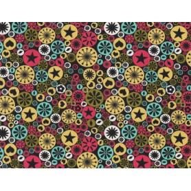 Printed Cotton Lycra Stof 5557-27