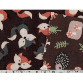Whisper Fleece Print 2-Sided 4003-9