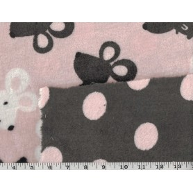 Whisper Fleece Print 2-Sided 4003-12