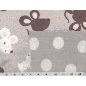 Whisper Fleece Print 2-Sided 4003-13