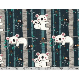 Printed Cotton Lycra Stof 5503-76